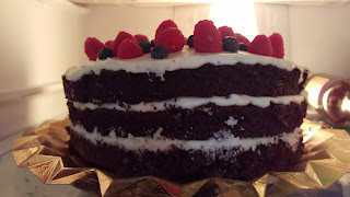 tarta cumpleaños; naked caked chocolate y queso; cumpleaños