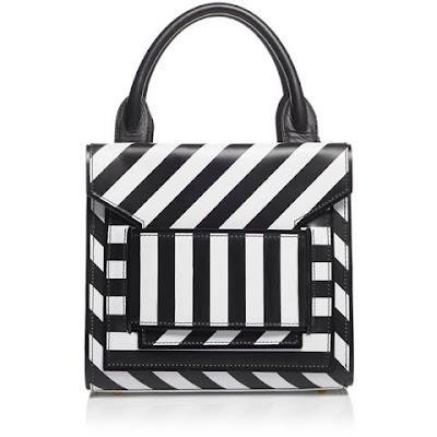 bolsa listras preto e branco