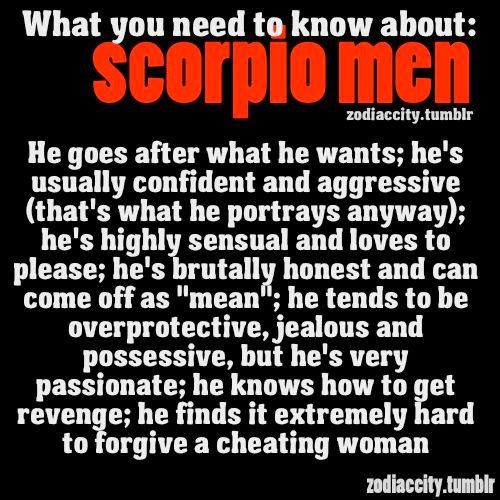 Traits of scorpio male