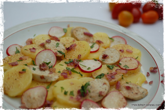 recipe for a Bavarian Potato and Radish Salad with Veal Sausage ...