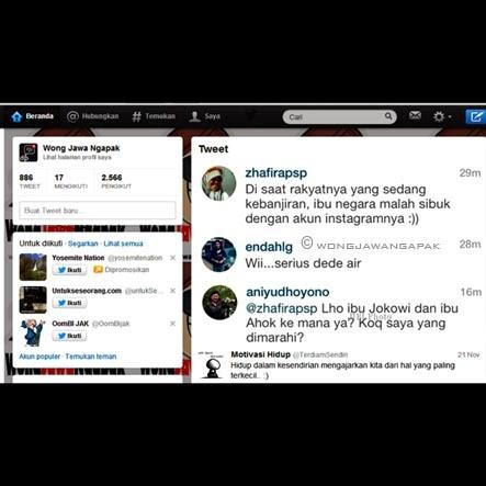 GAMBAR TWITTER ANI SBY BANJIR JAKARTA LUCU GOKIL