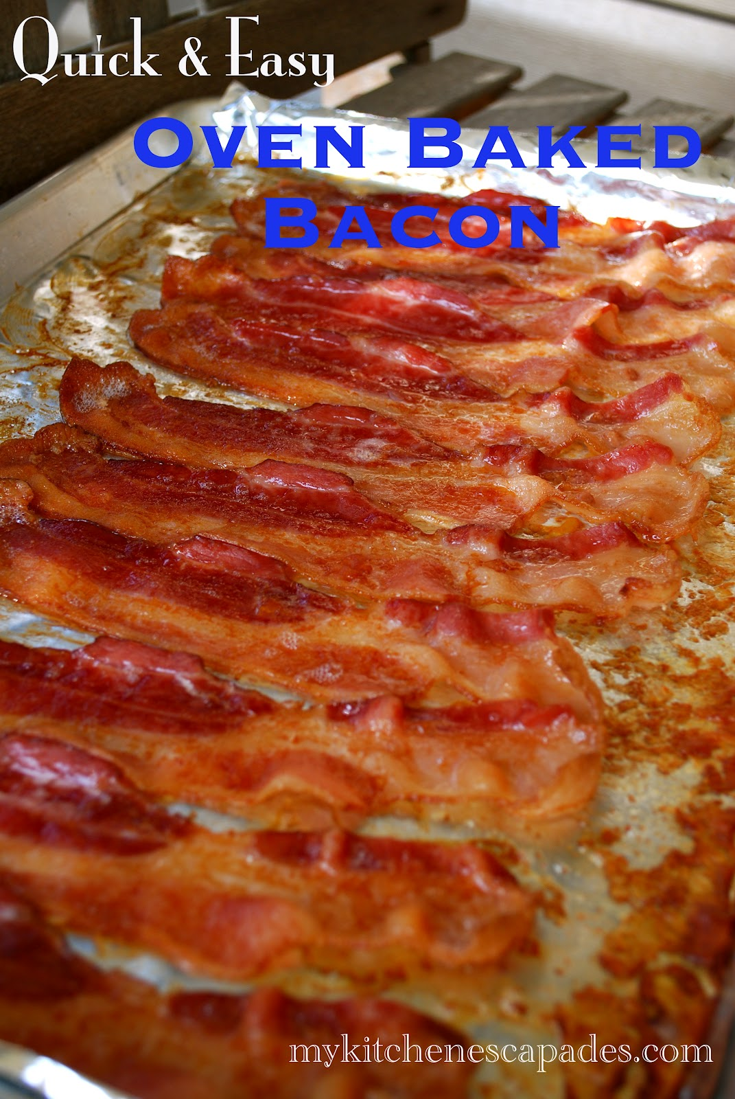 Starts Out In A Cold Oven So No Need To Wait For The Oven To Preheat Oven  Baked Bacon Recipe