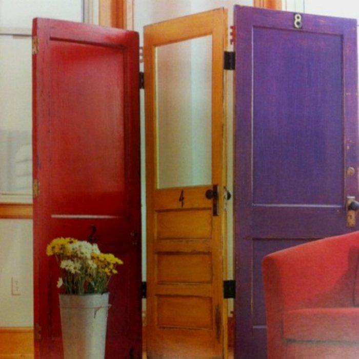 Ideas para reciclar biombo hecho con puertas - Puertas de biombo ...