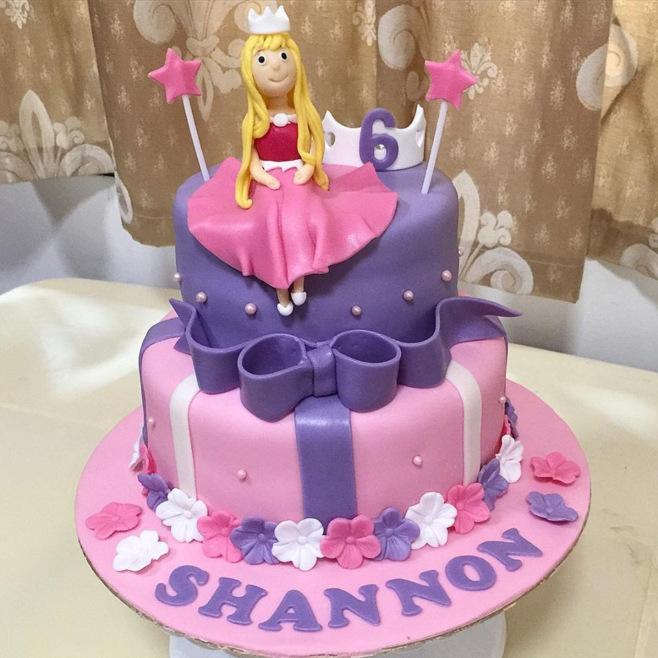 Pink And Purple Princess Tiara Cake Sherbakes