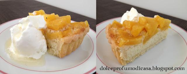 crostata con crema al cocco e ananas arrostito