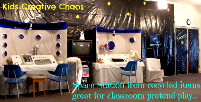 Lora langston 39 s blog futuristic activities for kids fly to the moon lesson plans and - Outer space classroom decorations ...