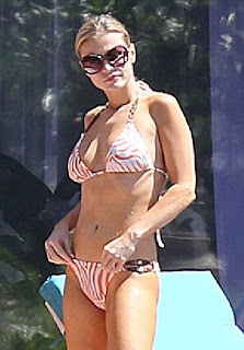 Joanna Krupa Zebra Bikini Miami