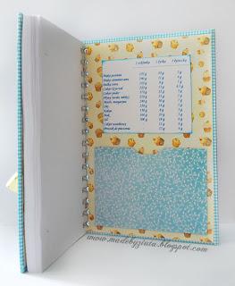 scrapbooking przepiśnik notes kulinarny zapiśnik notes na przepisy card making