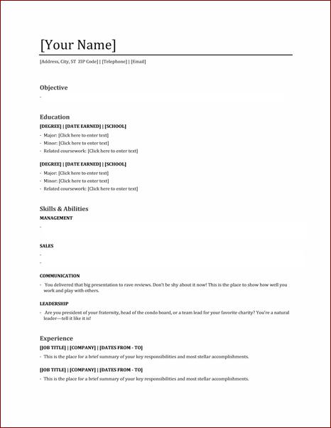 Communication major resume skills