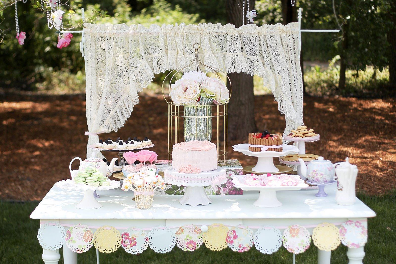 Adorable you english garden tea party for Tea party decoration ideas