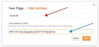 Cara Membuat Halaman Profil Admin di Blog