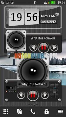 مود الساعة والموسيقى لنوكيا new-transparent-3d-digital-flip-clock Original