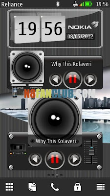 3D Digital Flip-Clock & Music Player widgets for your Symbian Belle