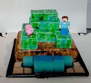 And Emma's (gluten free dairy free) minecraft cake