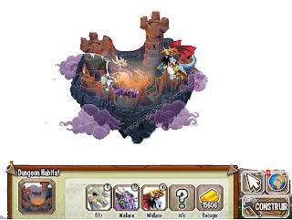 imagen del habitat dungeon o calabozo de dragon city