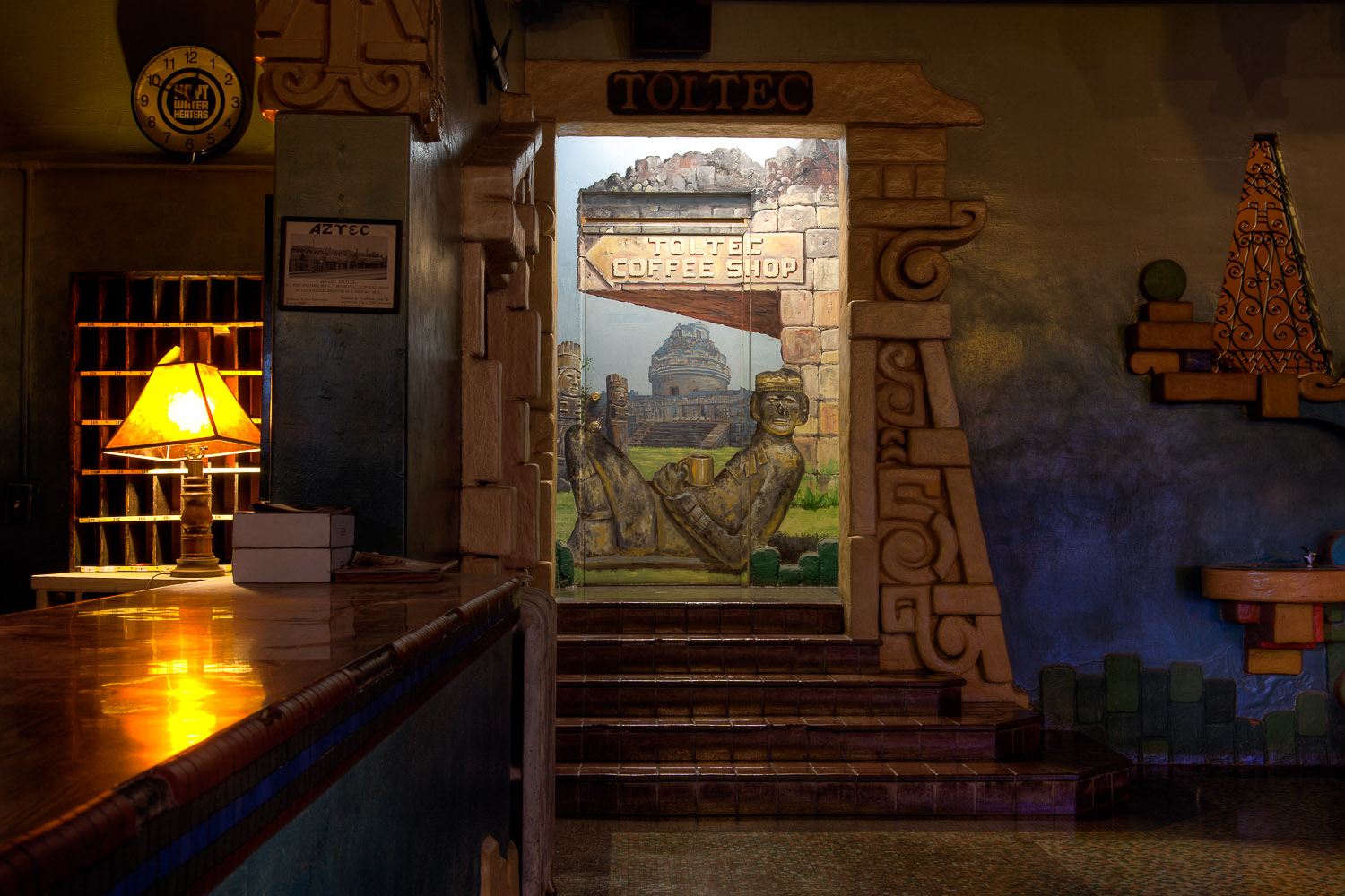The aztec hotel the lobby for Coffee shop mural