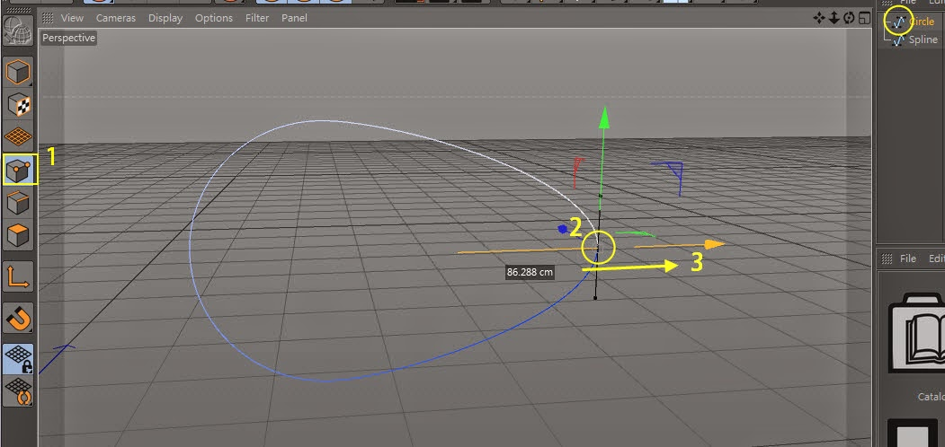Manipulating Curve in C4D 09