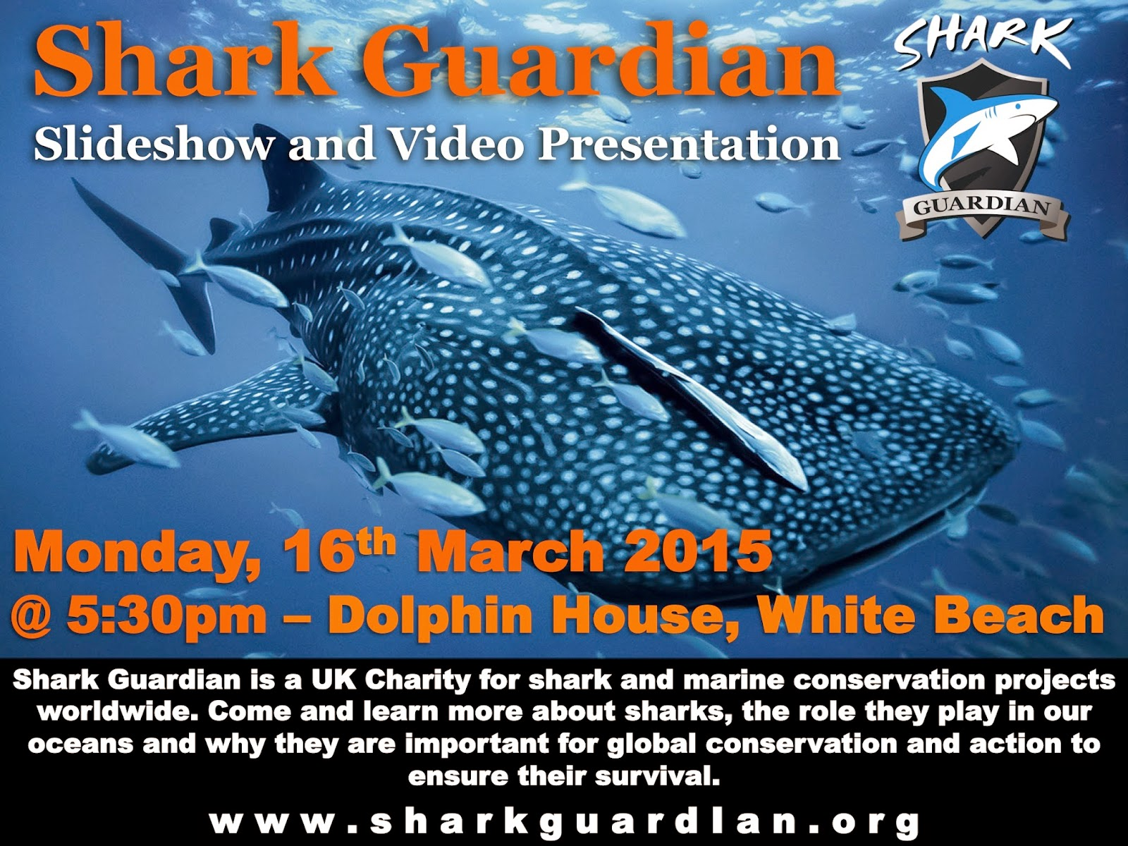 Shark Guardian presentation at Dolphin House, White Beach, Moalboal, Philippines