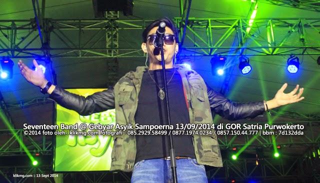 Seventeen Band @ Gebyar Asyik Sampoerna 13/09/2014 di GOR Satria Purwokerto | Foto oleh : klikmg fotografer Jakarta