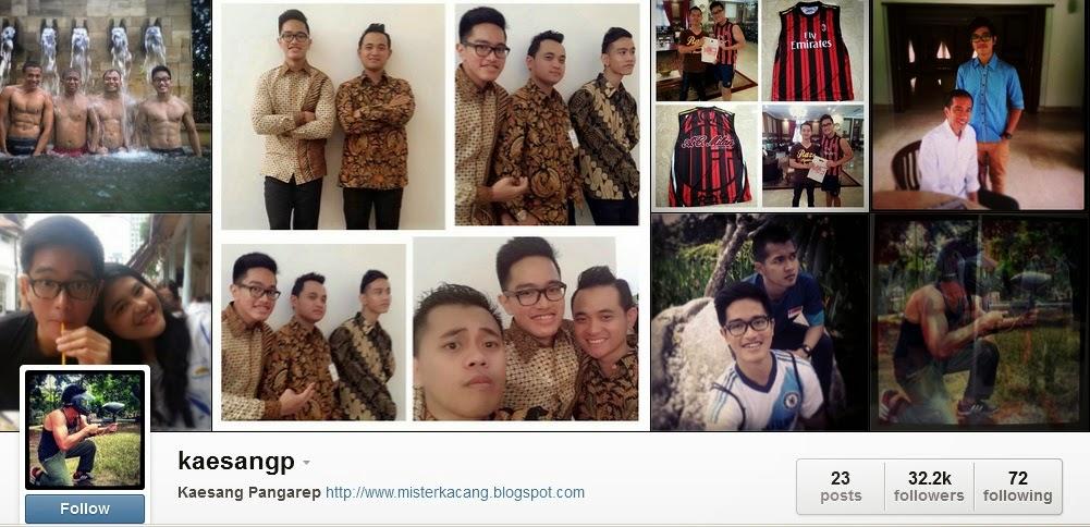 Foto Kaesang di Instagram