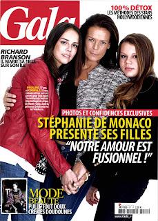 Stéphanie de Monaco et ses filles Pauline et Camille à la une de Gala