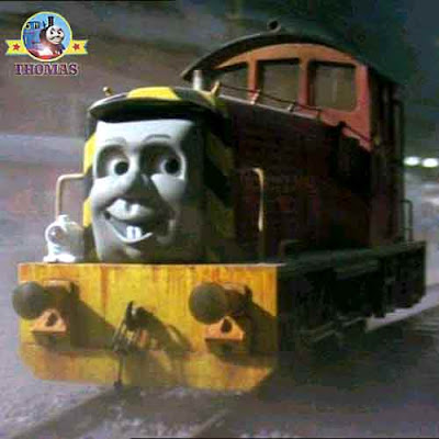 Gordon Thomas and friends Salty the tank engine sea captain calypso at Brendam bay shipping dockyard