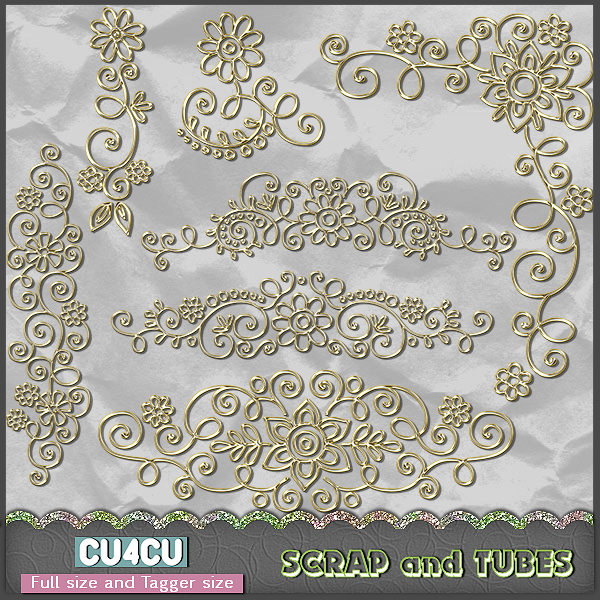 Gold Charms (FS/TS/CU4CU) .Gold+Charms_Preview_Scrap+and+Tubes