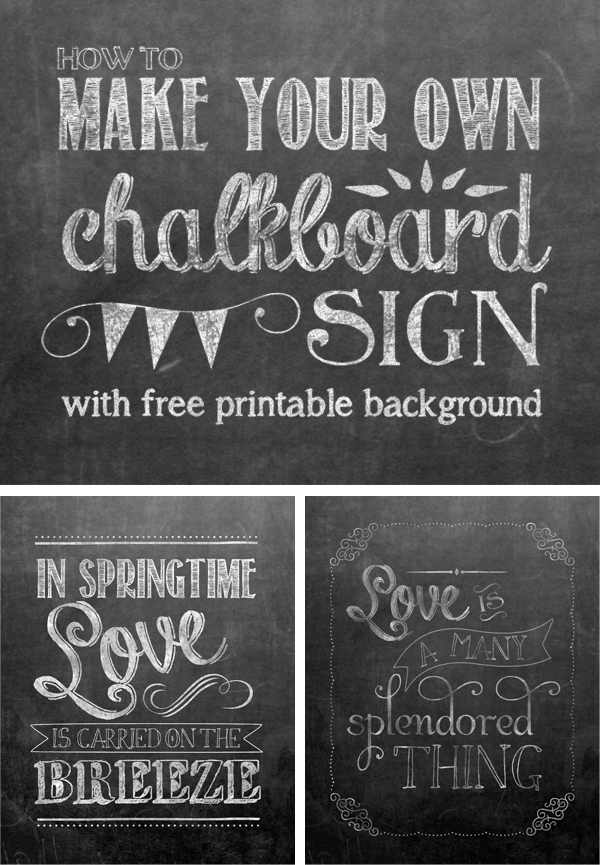 Irresistible image for free printable chalkboard signs