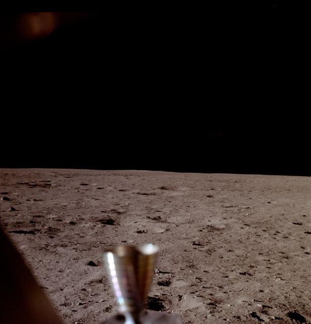 Primera foto del Apolo 11 cabina Módulo lunar