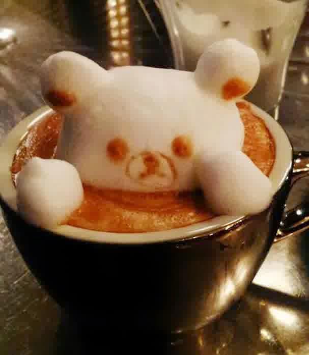 amazing 3D coffe art by Kazuki Yamamoto