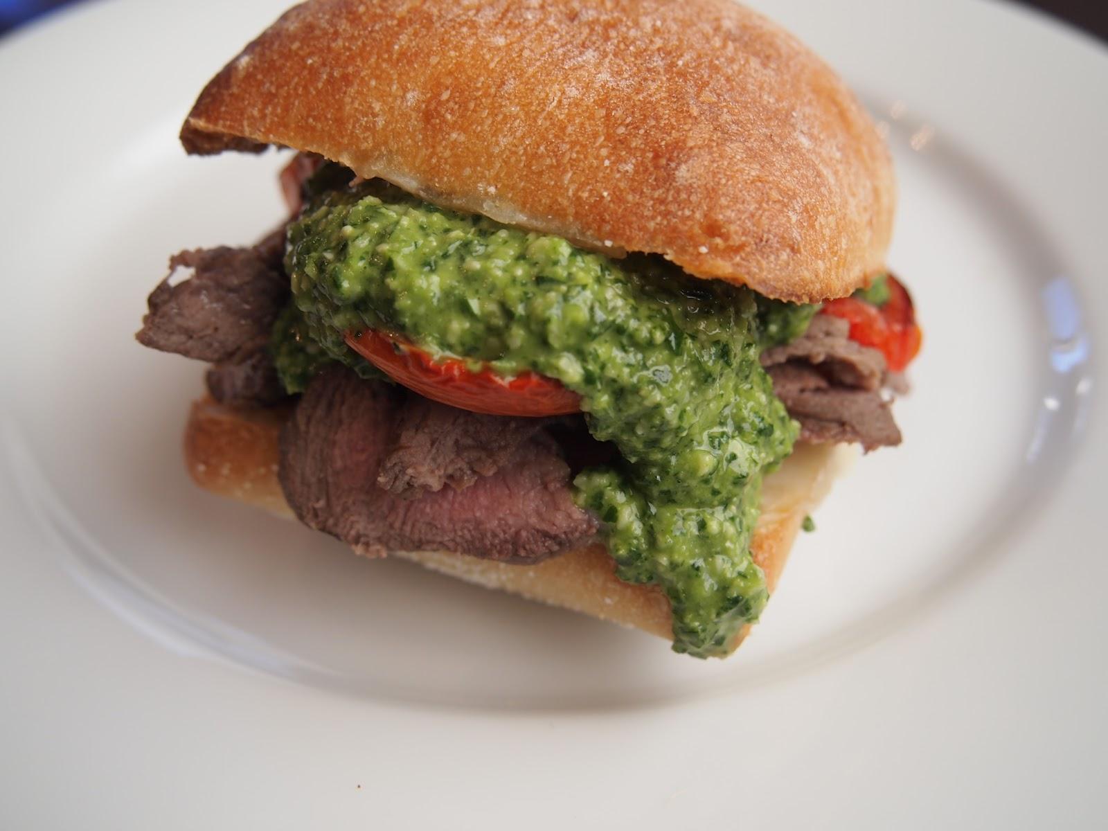Cracked Up Kitchen: Steak Sandwich with Jalapeno Pesto