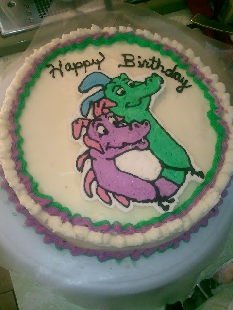 Dragon Tales Cake with Buttercream transfer, Dragon Tales buttercream transfer
