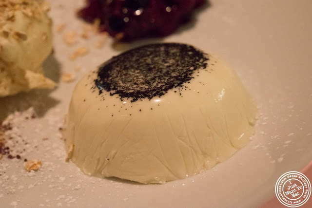 image of panna cotta at Incognito Bistro in NYC, New York