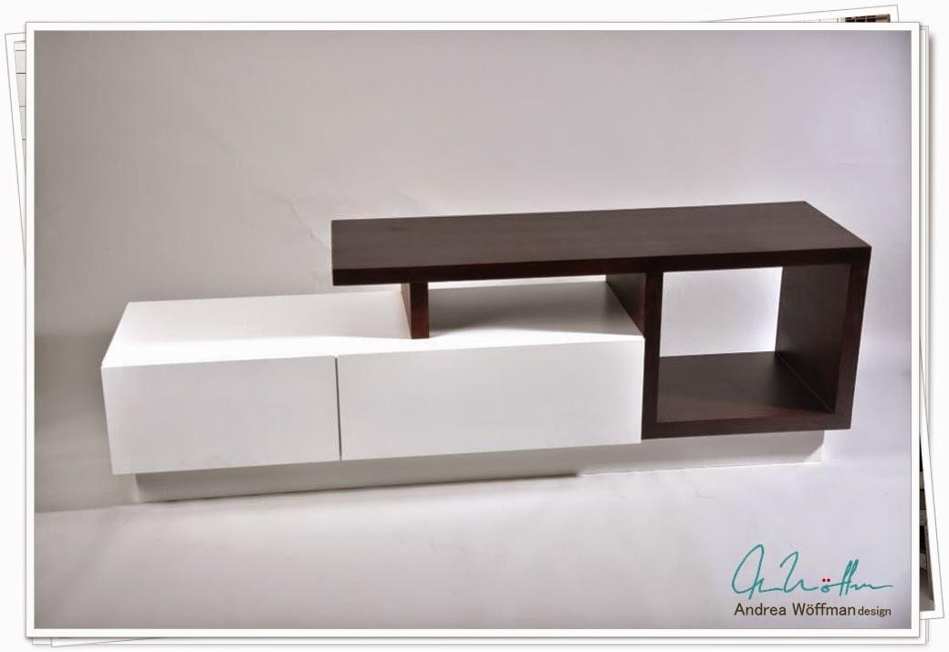 Amoblamientos y productos andrea w ffman mueble para tv for Muebles para zapatos en melamina
