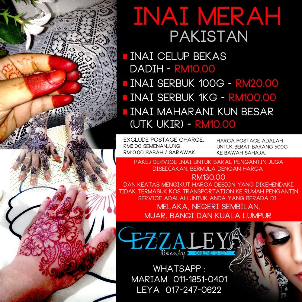 EZZALEYA Beauty Online Shop INAI MERAH PAKISTAN