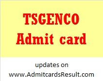 TSGENCO AE Admit card