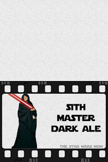 Star Wars Party Drink Label Sith Master Dark Ale Free Printable Sign