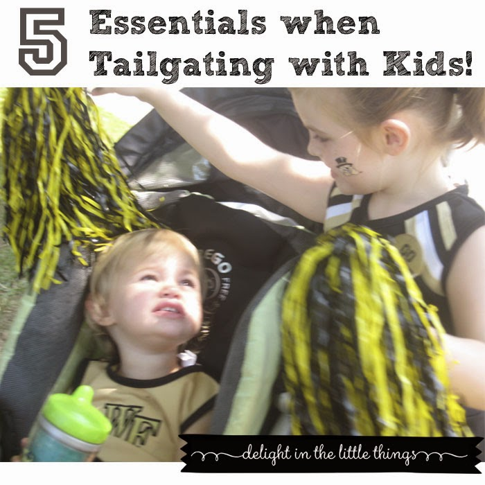 Five Essentials when Tailgating with Kids | delightinthelittlethings.com
