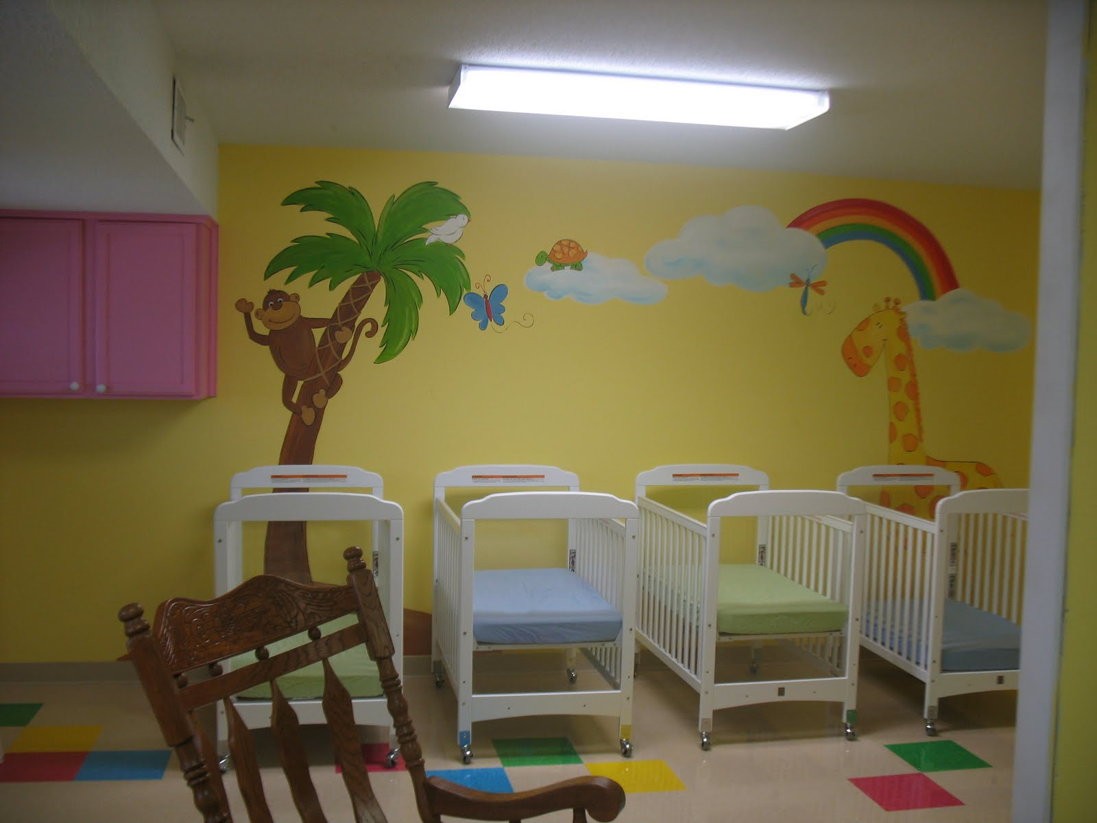 Natalie 39 s art for Baby nursery mural