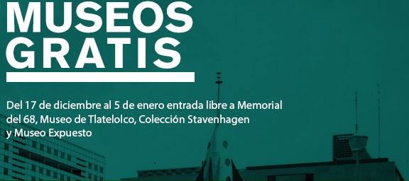 Museos que integran el CCU Tlatelolco gratis del 17/DIC al 05/ENE