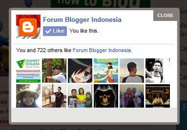Fanspage Facebook Like Box Popup di Blog