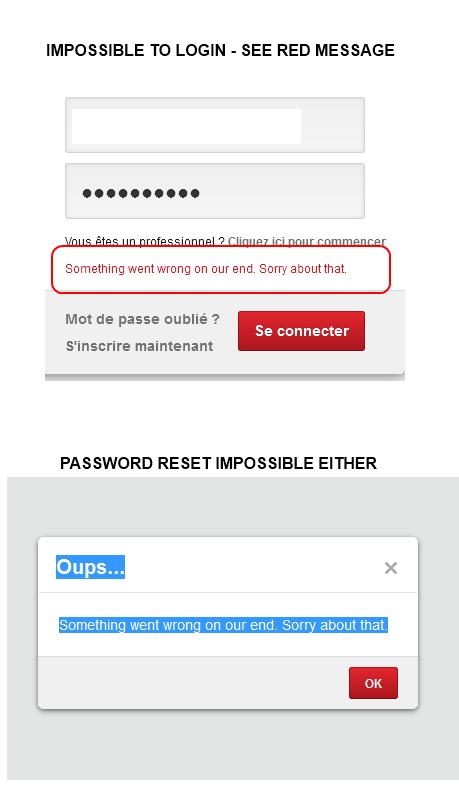 Pinterest login bug