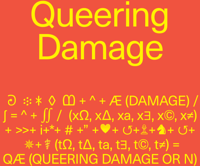 [manual] Queering Damage. Methodologies for partial reparation... or not.