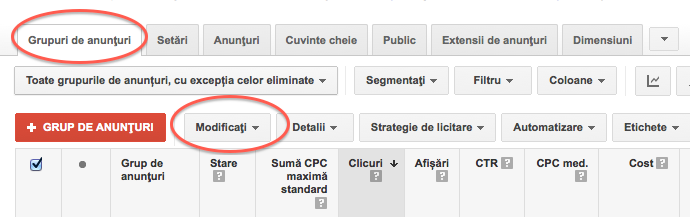 02-grup de anunturi modificat adwords