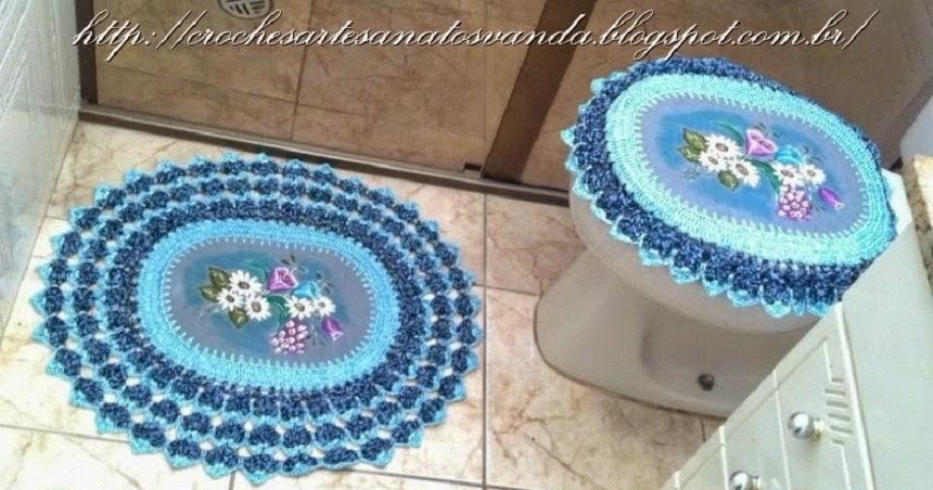 Jogo De Banheiro Azul Em Croche : Artesanatos em croch? vanda jogos para banheiro croch?