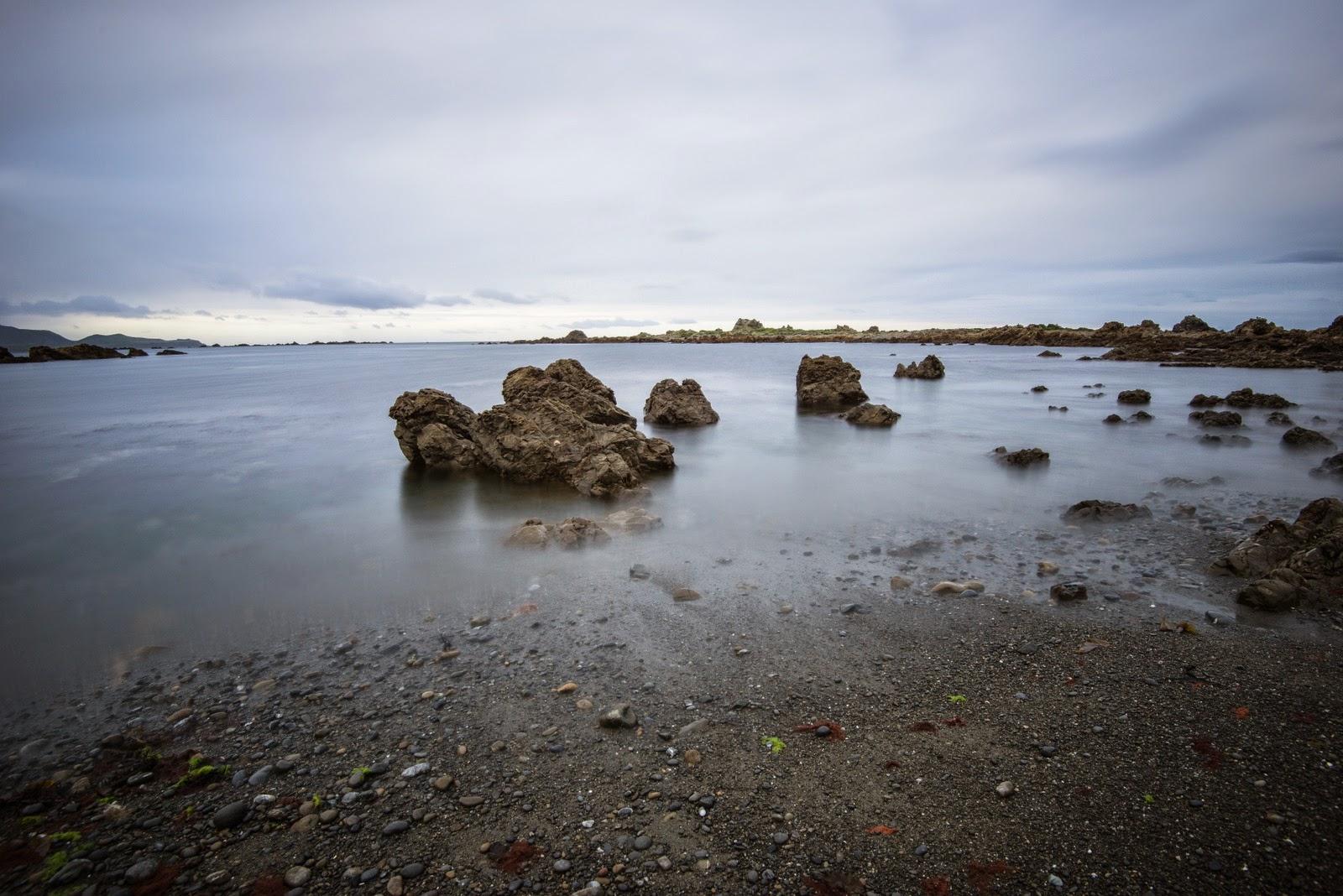 Long exposure Moa Point Bay Wellington