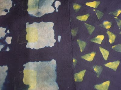 Black dischargeable silk fabric printed with discharge paste & illuminating dye