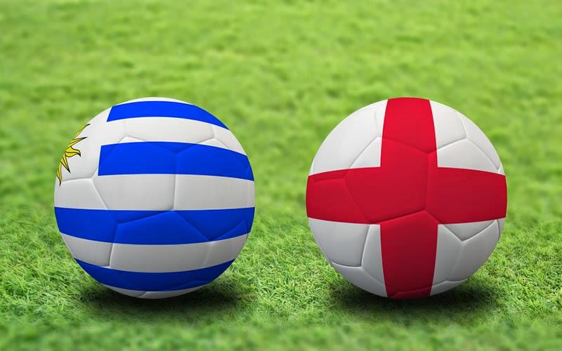 Uruguay 2 - 1 Inglaterra. Grupo D