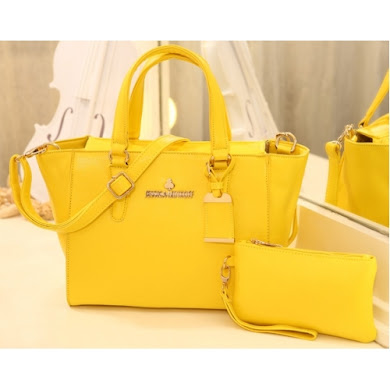AAA WITH JESSICA MINKOFF LOGO (YELLOW)