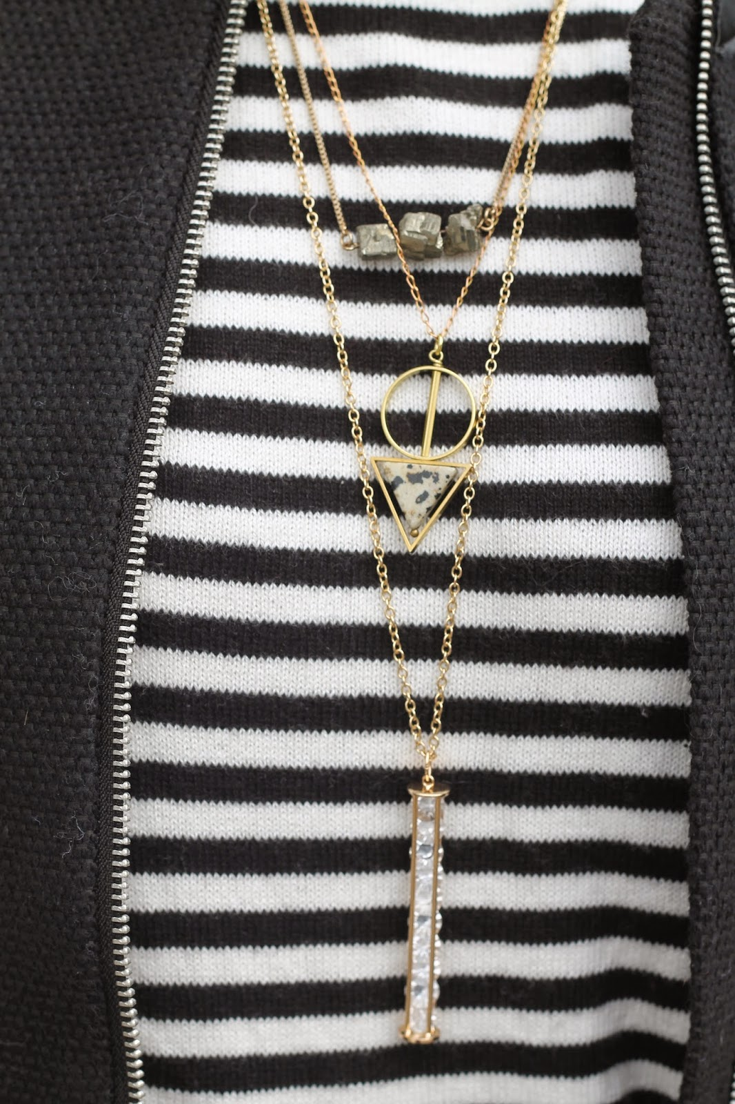 necklace, layering